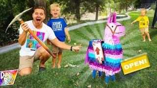 Opening Mystery FORTNITE LLAMA in Real Life!! (Super Rare!)