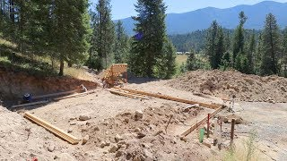 OUR HOUSE EXISTS! (Beginning the Footing Forms)