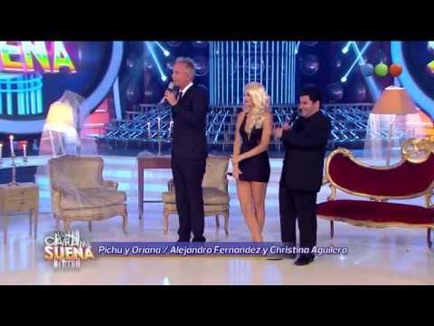 Devolución Pichu y Oriana, Alejandro Fernández y Christina Aguilera - Tu Cara Me Suena 2014