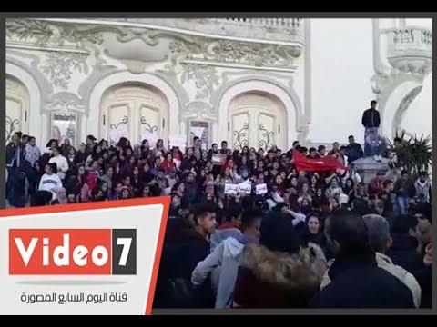 مظاهرات في تونس أمام المسرح البلدى تضامنا مع القدس  - 17:22-2017 / 12 / 8