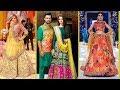 Top brands Latest fashion Mehndi Dress for pakistani girls 2018