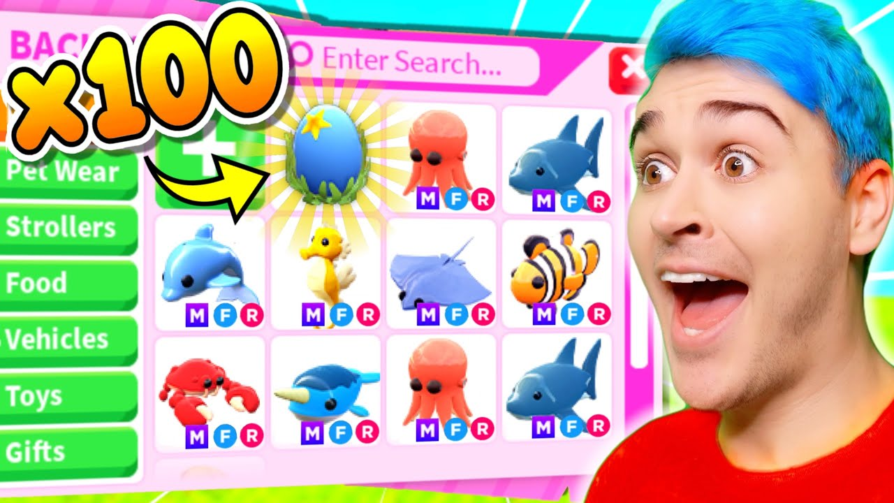 Download OPENING *100 OCEAN EGGS* To Get EVERY MEGA *SEA DREAM PET* CHALLENGE (EXPENSIVE) Adopt Me Roblox