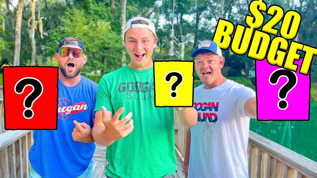 1v1v1 $20 Budget Fishing Challenge (Winner Take ALL)
