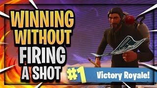 WINNING Fortnite Battle Royale WITHOUT FIRING A SHOT!! CLOSE ENCOUNTERS LIMITED TIME GAMEPLAY!
