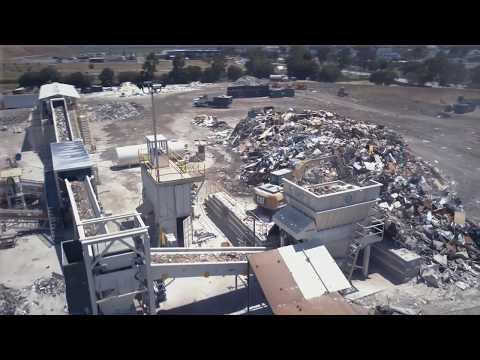 Zanker Recycling - DM Reduction System - Shredder Operation