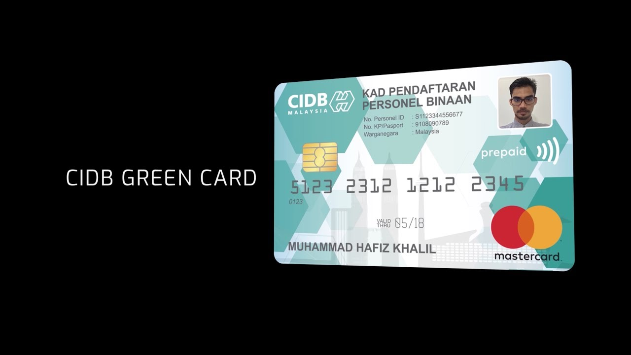 Cidb Construction Personel Card Youtube