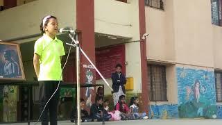 शिवजयंती भाषण, Speech By Girl Student Of Balaji School, 2019