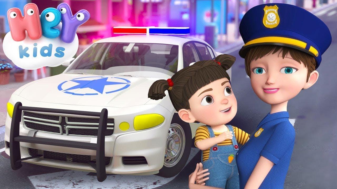La patrulla de policía 🚔 Coche de policía para niños 🚓 Canciones Infantiles - HeyKids