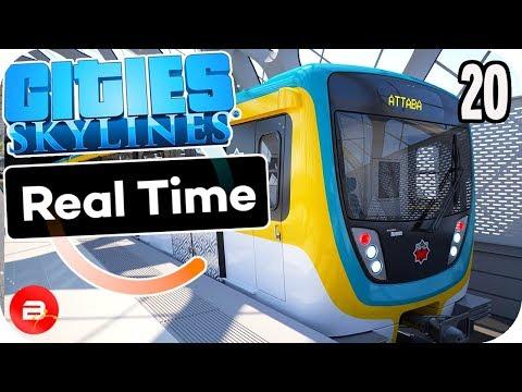 Cities Skylines - Metro Trains Over Roads! #20 Cities Skylines Mods