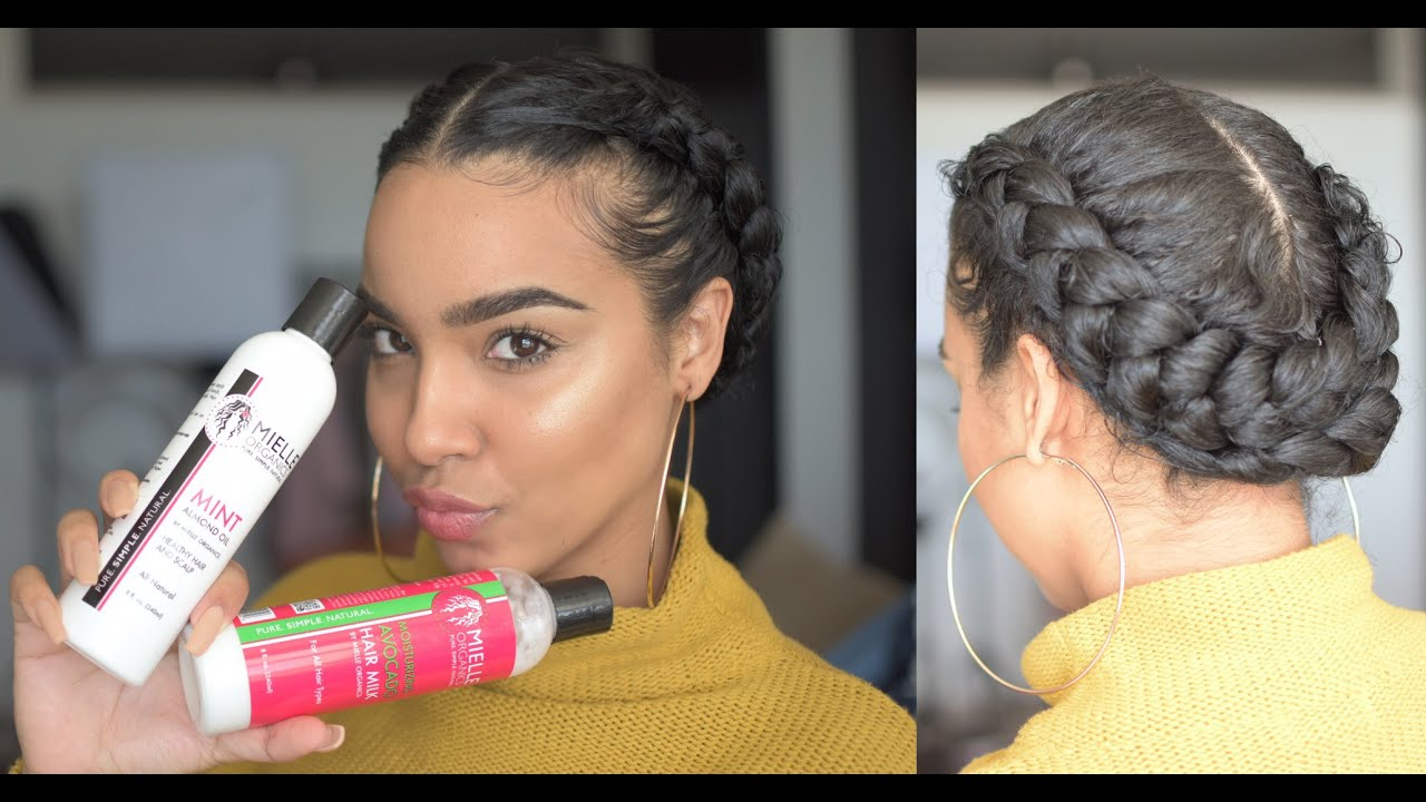 Braided Updo Styles For Natural Hair: Quick And Easy Dutch Braid Style For Work And School! FOR