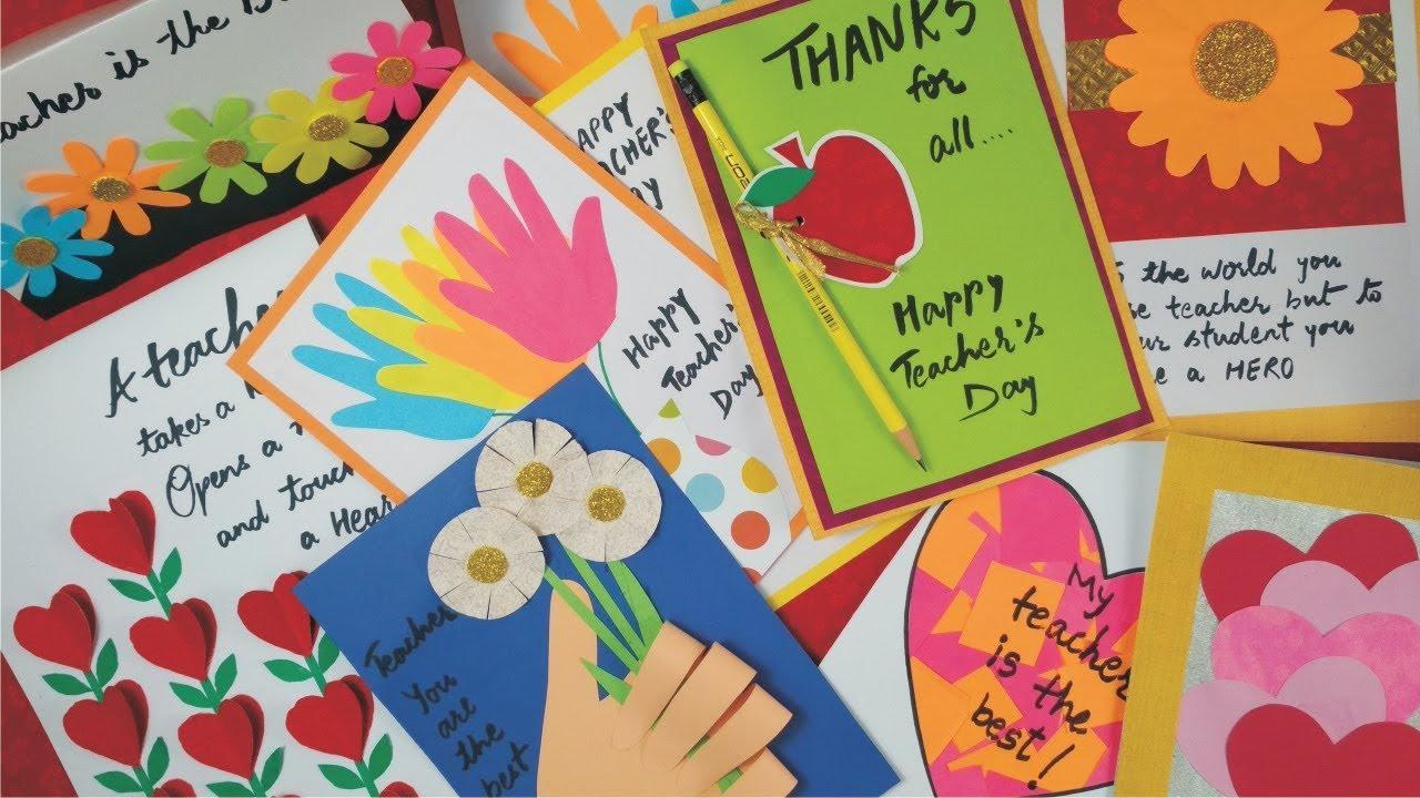 Diy Teacher S Day Card Handmade Teachers Day Card Making Idea Greeting Card For Teache Greeting Cards For Teachers Teachers Day Card Teachers Day Greetings