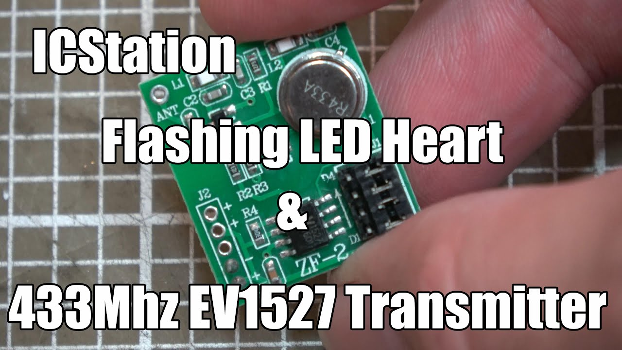IC Station LED Heart Kit and EV1527 Rolling-Code Transmitter by Jim Conner