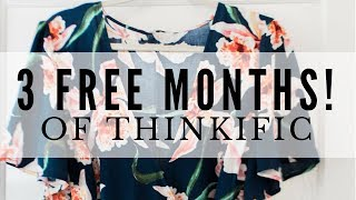 3 FREE MONTHS WITH THINKIFIC  ● FLASH SALE! GENIUS BLOGGER