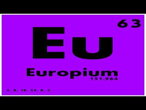 study guide 63 europium periodic table of elements - Periodic Table Element E