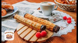 Вафельные трубочки с вареной сгущенкой | Рецепт