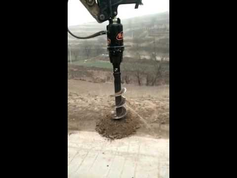 Rayattachments hydraulic excavator auger drilling machine for soil land