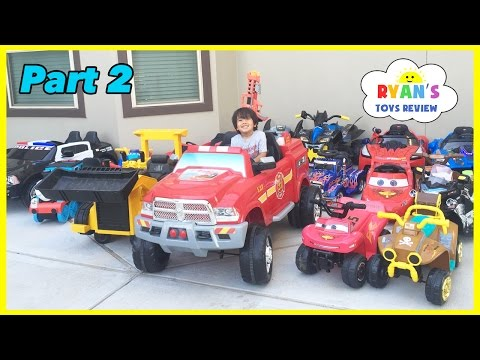 Thumbnail: HUGE POWER WHEELS COLLECTIONS Ride On Cars for Kids Compilations Part 2 Disney Cars Paw Patrol
