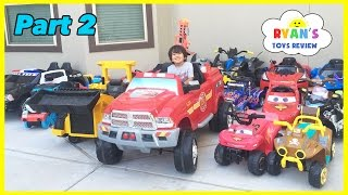 Repeat youtube video HUGE POWER WHEELS COLLECTIONS Ride On Cars for Kids Compilations Part 2 Disney Cars Paw Patrol