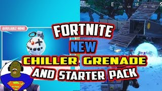 FORTNITE CHILLER GRENADE IN AKTION + STARTER PACK 5 RELEASE DATE + FORNITE BATTLE ROYALE