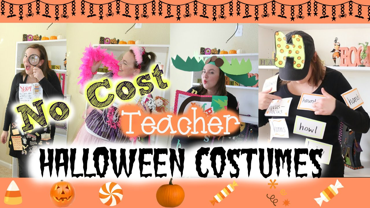 YouTube Premium  sc 1 st  YouTube & Four Easy No-Cost Teacher Halloween Costumes - YouTube