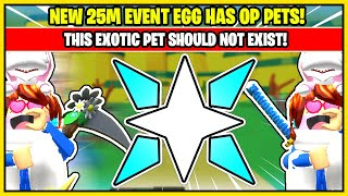 This EXOTIC PET should NOT EXIST in TAPPING LEGENDS! BEST LOOKING PETS! NEW 25M EVENT EGG!
