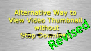 Save Thumbnail from Any YouTube Video (How To)