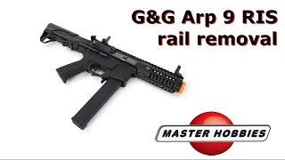 How to remove the RIS rail on the G&G ARP9