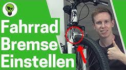 Fahrradbremse einstellen & nachziehen ✅ TOP ANLEITUNG: V-Brake schleift - Fahrrad Bremsen reparieren