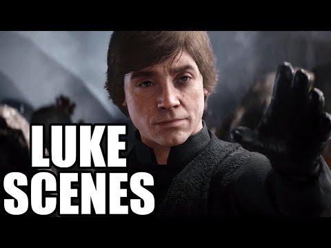 STAR WARS BATTLEFRONT 2 - Luke Skywalker Scenes