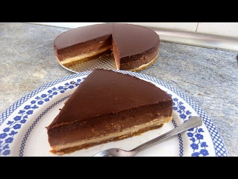 TRIPLE CHOCOLATE MOUSSE CAKE –  Tasty and easy food dessert recipes for dinner to make at home