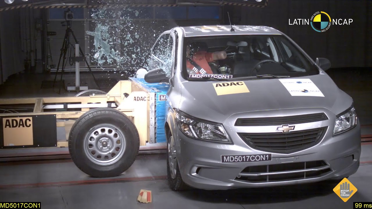 Crash Test Chevrolet Onix 2 Airbags Youtube