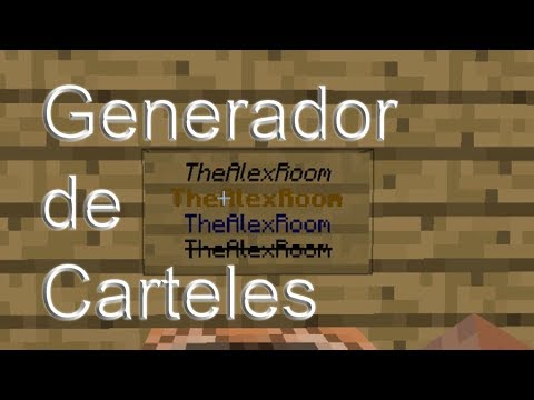 Como Crear Carteles De Colores | Minecraft PC