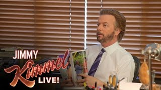 David Spade Invades Jimmy Kimmel's Office