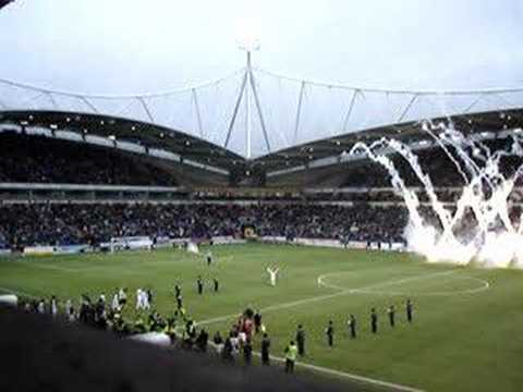 Bolton against Arsenal Teams Coming Out