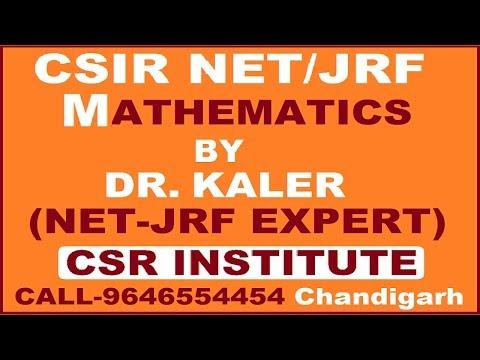 Csir Net Maths -By CSR INSTITUTE Chandigarh