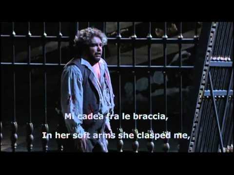 G. Puccini - E lucevan le stelle [Salvatore Licitra ✞ Live HQ ] Eng. Video Lyrics