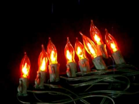flickering flame string lights 10 c7 bulbs youtube