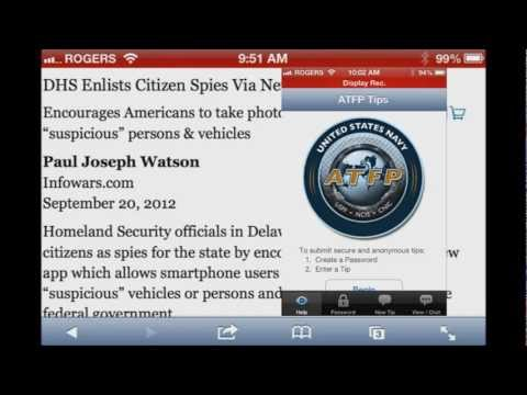 DHS Enlists Citizen Spies Via New Smartphone App - App Used To Report George Bush For War Crimes