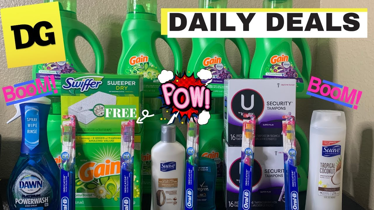 Dollar General Couponing | Daily Deals | Cheap Gain with overage  | Great savings