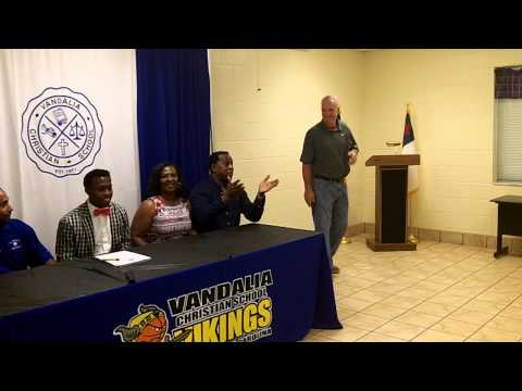 TC Daniels Signing Day at Vandalia Christian School