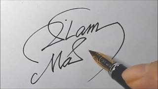 "How to draw the impressive ""islam"" of the signature! - 1 -"