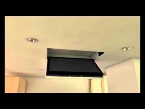 TV MOVING MFC - Staffa TV motorizzata da soffitto  Motorized TV Ceiling Bracket - YouTube
