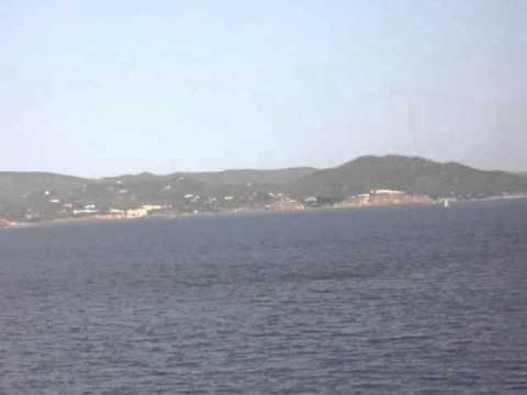 Ibiza coast from ferry