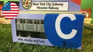 Unboxing metro de Nueva York C-tren Munipals tren de juguete de madera  (03747 es )