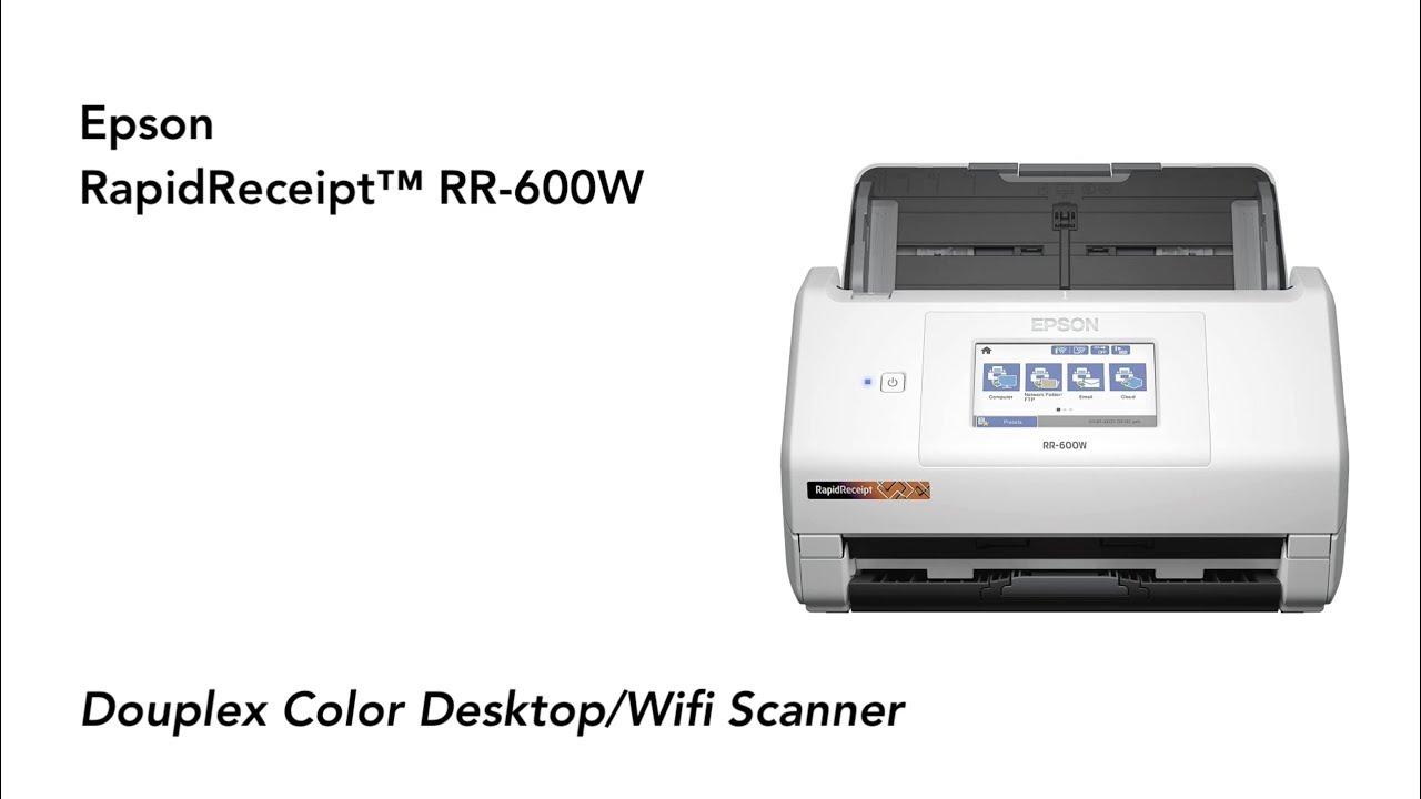Epson RR-600W Scanner - Full Tutorial & Review #RapidReceipt