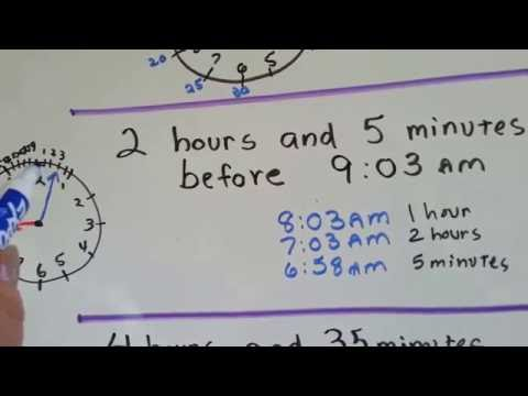 Gr 3 Math #10.5b, Subtract Time Regroup Hours and Minutes