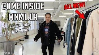 Visit a CLOTHING BRANDS Office VLOG -  MNML.LA