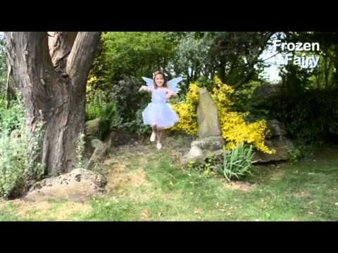 FROZEN FAIRY PALE BLUE FAIRY DRESS UP COSTUME FOR GIRLS