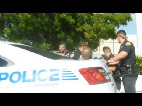 cops BODY SLAM  MAN SHOOTING a gun in public