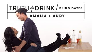 Blind Dates Play Truth or Drink (Amalia & Andy) | Truth or Drink | Cut thumbnail